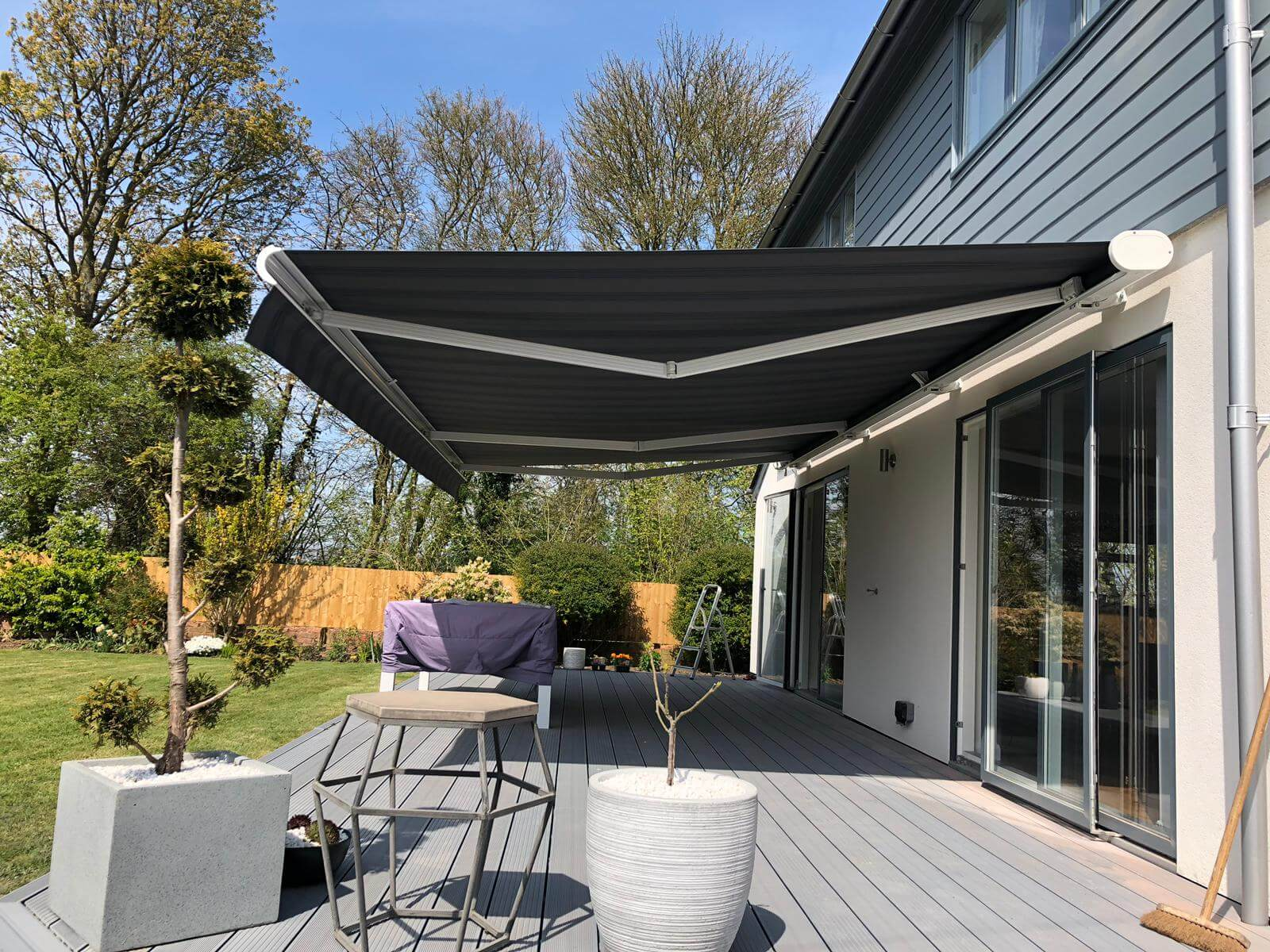 our awning at home patio